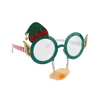 CGB Giftware Christmas Dress Up Elf Glasses with Nose