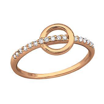 Geometric - 925 Sterling Silver Jewelled Rings - W37103X