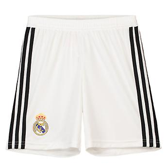 2018-2019 Real Madrid Adidas Home Shorts (alb)-copii