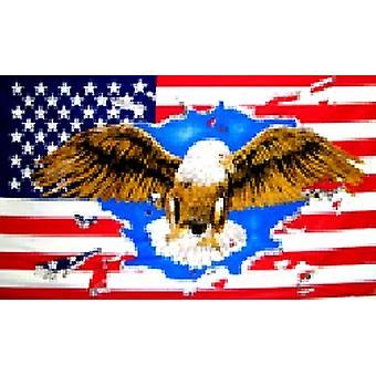VS American 'Eagle' vlag 5 ft x 3 ft met oogjes