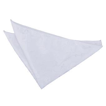 Mouchoir de poche Floral blanc