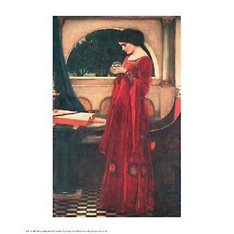 Crystal Ball plakat Print af John William Waterhouse (24 x 30)