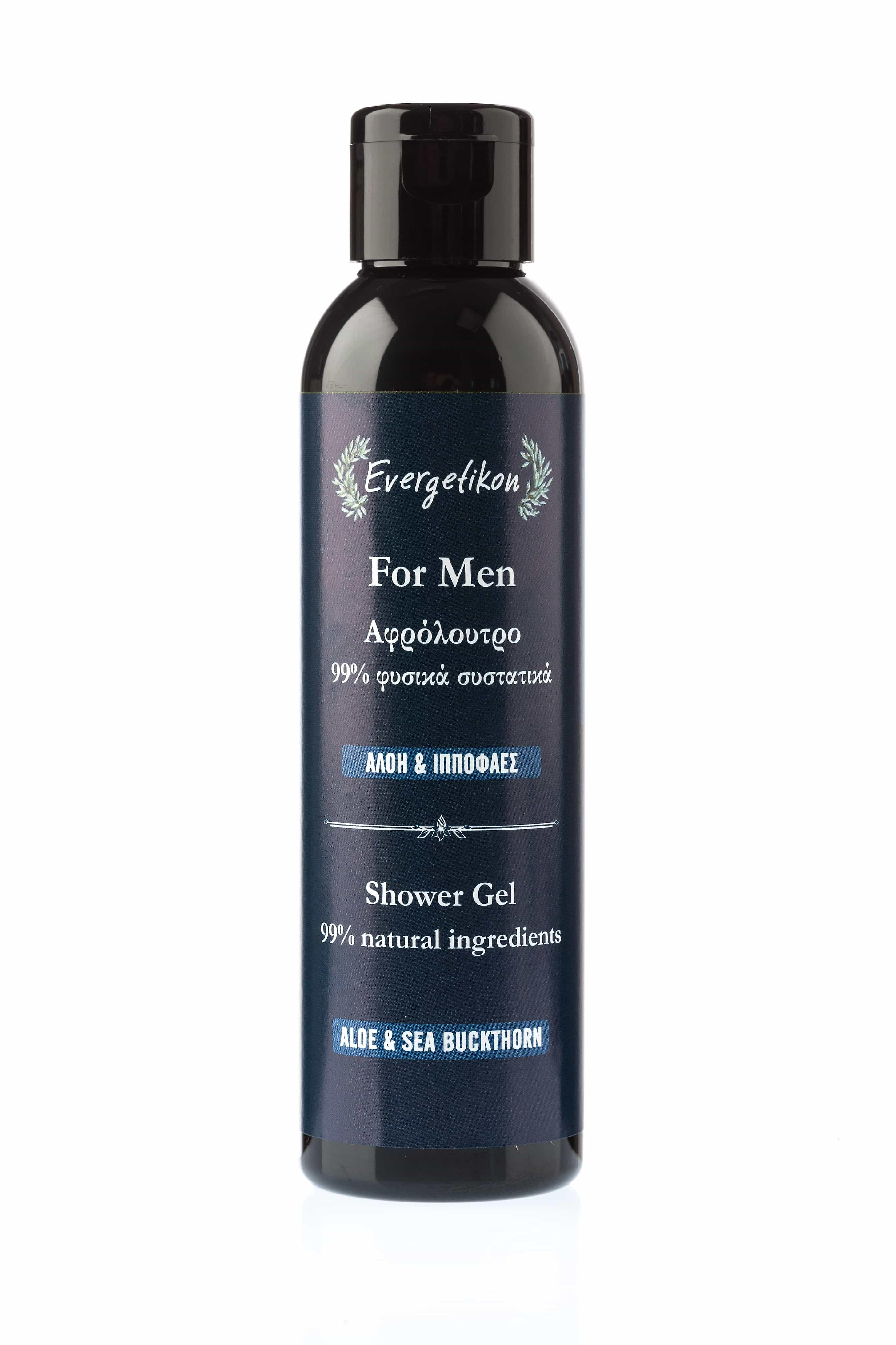 Shower gel for men with Aloe and Sea Buckthorn.