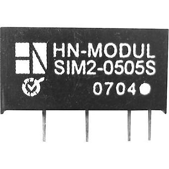 HN Power SIM2-0905S-SIL7 DC/DC converter (print) 9 V DC 5 V DC 400 mA 2 W No. of outputs: 1 x