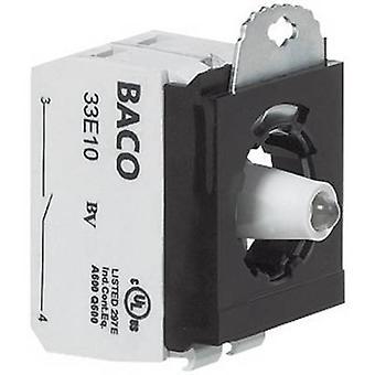 BACO BA333EAWL11 Contact, LED + fixing adapter 1 breaker, 1 maker White momentary 24 V 1 pc(s)
