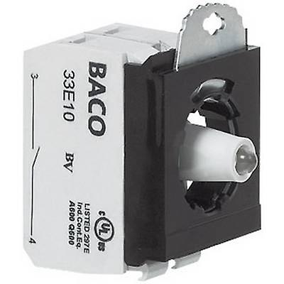 BACO 334EABL22 Contact, LED + fixing adapter 2 breakers, 2 makers Blue momentary 24 V 1 pc(s)