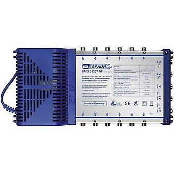 Comutador de SAT Spaun luz SMS 51207 NF entradas (comutadores): 5 (4 SAT/1 terrestre) n º de participantes: 12 em modo de espera