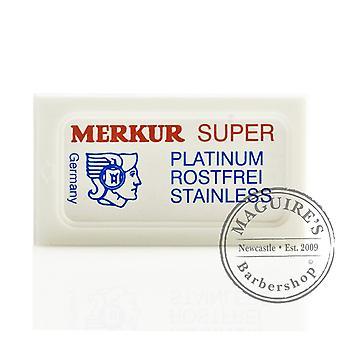 Merkur Super Platinum Ruostumaton Double Edge (DE) Razorblades