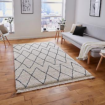 Boho 8280 dywany w biały czarny