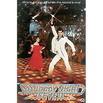 Lørdag aften feber plakat John Travolta 101 x 68,5 cm