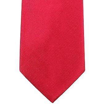 Knightsbridge Neckwear Plain Diagonal Ribbed Tie - Red