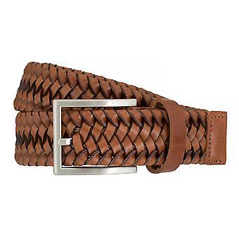 LLOYD Men's belt belts men's belts woven belt Cognac 7587