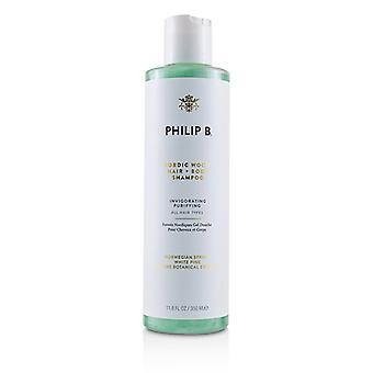 Philip B Nordic hout haar + Body Shampoo (verkwikkende purifying-alle haar types)-350ml/11.8 oz