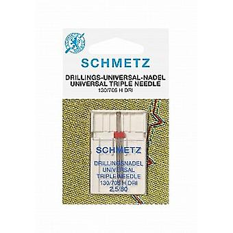 Schmetz Sewing Machine Needles - Triple / Drilling (Various Sizes)