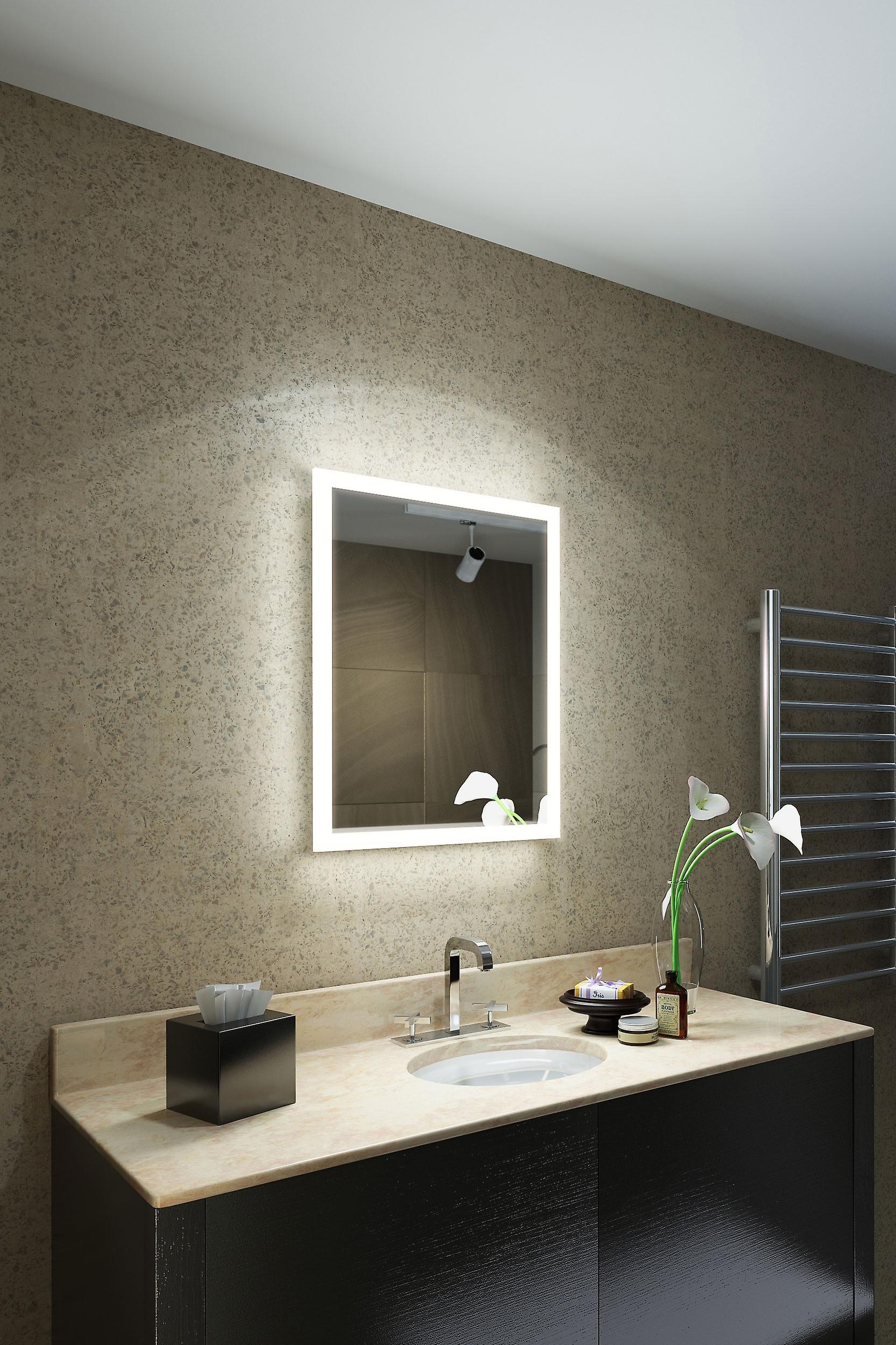 RGB Shaver LED Bathroom Mirror with Demister pad & sensor K1416irgb