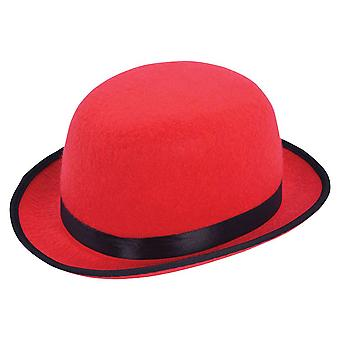 Bowler Hat. Red