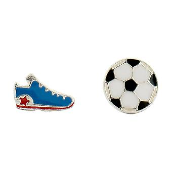 Olivia Collection Sterling Silber Funky Football-Ohrstecker