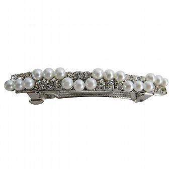 Bridal Hair Pin Inexpensive Hair Clip Pearls & Gold Hair Barrette