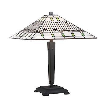 Lampada da tavolo stile Tiffany medio - interni 1900 70378 di missione