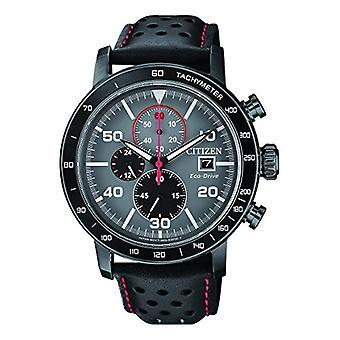 Citizen mäns chronograph Quartz klocka med läder rem CA0645-15 h