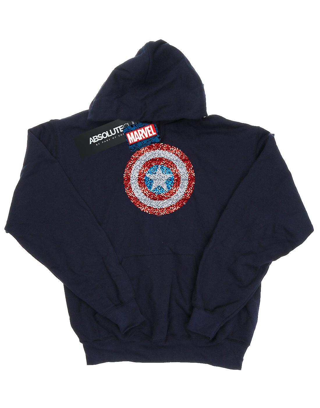 Marvel Boys Captain America Pixelated Shield Hoodie