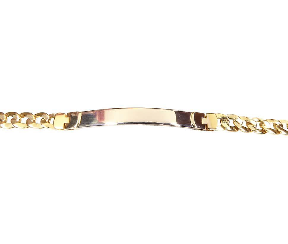 Bicolor naamplaat armband