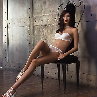 AMBRA Lingerie Briefs Chantilly String White 1370