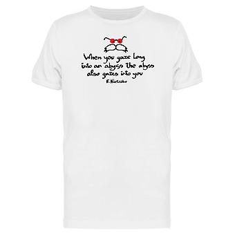 Nietzsche Quote Abyss Into You Tee Men's -Image by Shutterstock