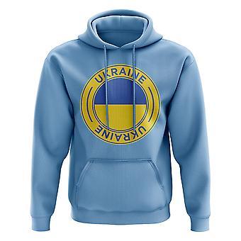 L'Ukraine Football Badge Hoodie (ciel)