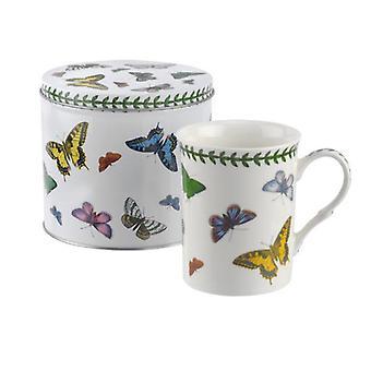 بورتميريون الفراشة النباتية القدح والقصدير مجموعة