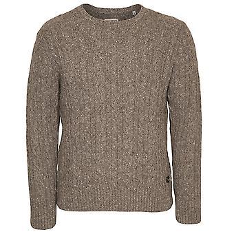 Edwin Denim Crew Neck Oiler Sweater, Grey Marl