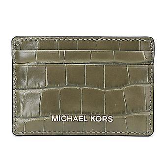 Michael Kors argent pièces Crocodile-effet cuir - porte-cartes - Olive - 32F7GF6D0E-333