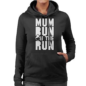 Mum Bun On The Run Women's Hooded Sweatshirt