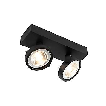 QAZQA Design spot black adjustable 2-light incl. 2 x G53- Go Large