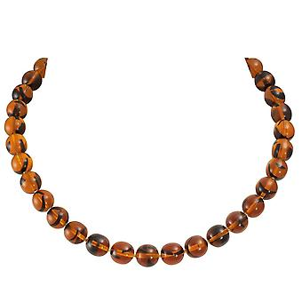 Eternal Collection Tortoiseshell Amber Czech Glass Necklace