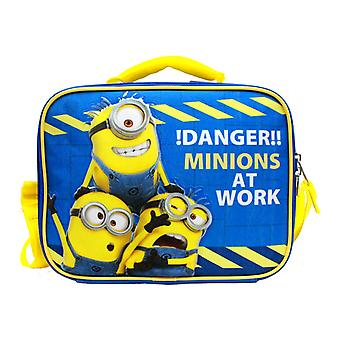 Lunch Bag - Despicable Me - Danger Minions at Work Blue New dl30168
