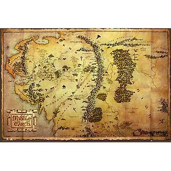 Le Hobbit carte Maxi Poster 61x91.5cm