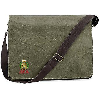 Royal Engineers First In last Out - Licensed British Army Embroidered Vintage Canvas Despatch Messenger Bag