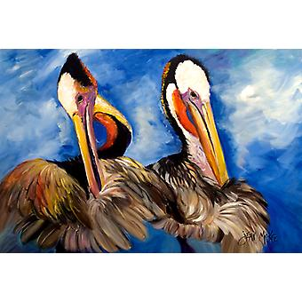 Carolines Treasures  JMK1022PLMT Pelican Brothers Fabric Placemat