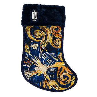 Doctor Who TARDIS Starry Night Stocking