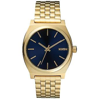 Nixon time teller Quartz Analog Man Watch with Stainless Steel Bracelet In Gold Plated A0451931