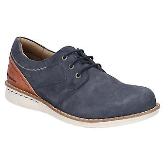Hush Welpen Mens Chase Casual Lace Up Schuh Navy/Brown
