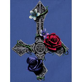 Grindstore Requiem Collective Floral Cross Cornflower Tote Bag