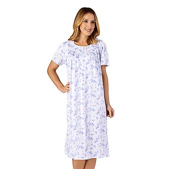 Slenderella ND4115 Mujeres's Jersey Floral Cotton Nightdress