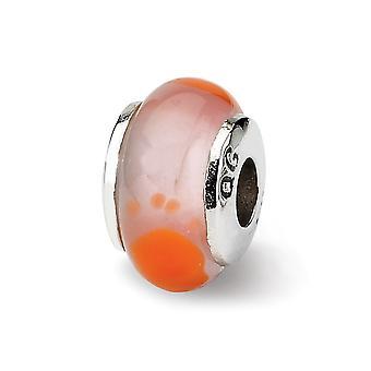 925 Plata esterlina pulido acabado antiguo Reflejos niños pie rojo Mur. Encanto de perlas de vidrio
