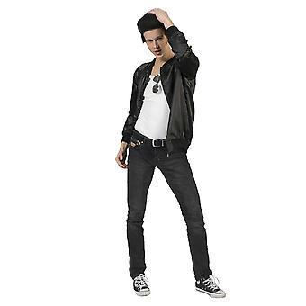 60s Rock n Roll Jacket Homme Costume Bomber Veste avec T-birds Imprint Costume Homme