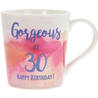 Lesser & Pavey Watercolour Happy 30th Gorgeous Mug