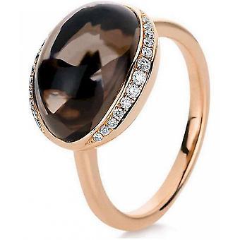 Gemstone Ring Diamonds 0.14ct. Quartz 6.4 ct. Size 54