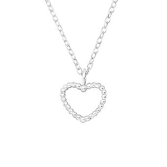 Heart - 925 Sterling Silver Plain Necklaces - W20025X