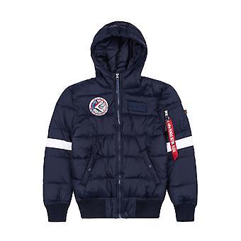 Alpha Industries Kids Winter Jacket Hooded Buffer FD NASA
